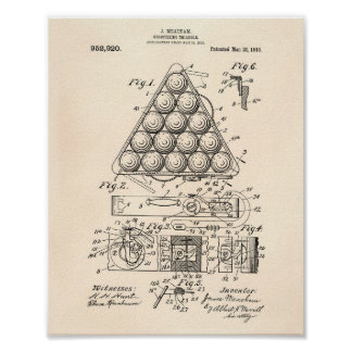 Registering Triangle 1910 Patent Art - Old Peper Poster