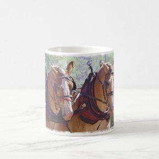 Registración belga del caballo de proyecto taza de café