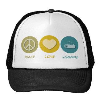 Registración del amor de la paz gorra