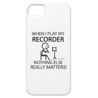Registrador nada materias otras iPhone 5 Case-Mate carcasa