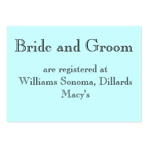 Registran a la novia y al novio, en… plantillas de tarjetas de visita