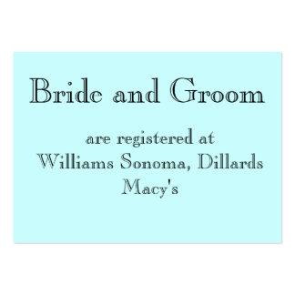 Registran a la novia y al novio en… plantillas de tarjetas de visita