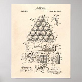 Registrando el arte de la patente del triángulo póster