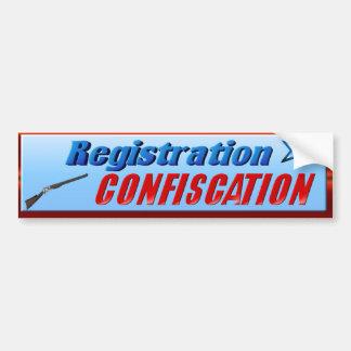 Registration-Confiscation Bumper Sticker