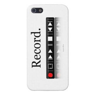 """""""Registre"""" el caso brillante de registración del i iPhone 5 Carcasas"""
