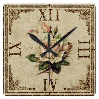 Registre el vintage cuadrado que la mirada reloj cuadrado
