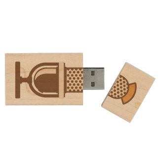 Registre su voz o música pen drive de madera USB 2.0