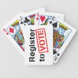 Registro al voto cartas de juego