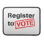 Registro al voto funda para macbooks