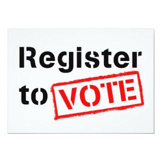 """Registro al voto invitación 5"""" x 7"""""""
