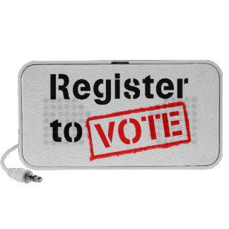 Registro al voto iPhone altavoz