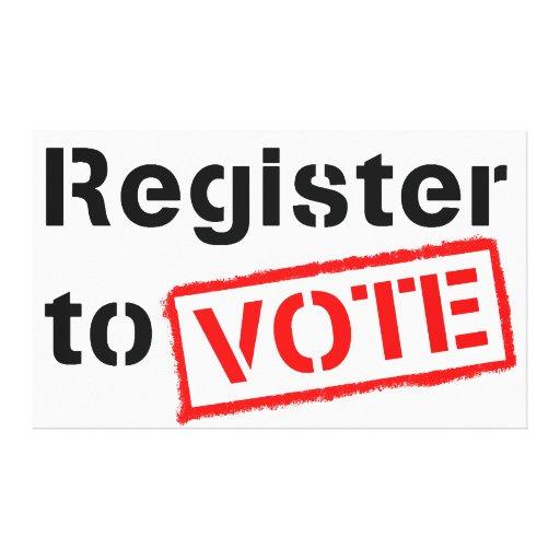 Registro al voto impresion en lona