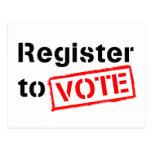 Registro al voto postales