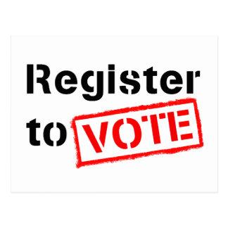 Registro al voto tarjetas postales