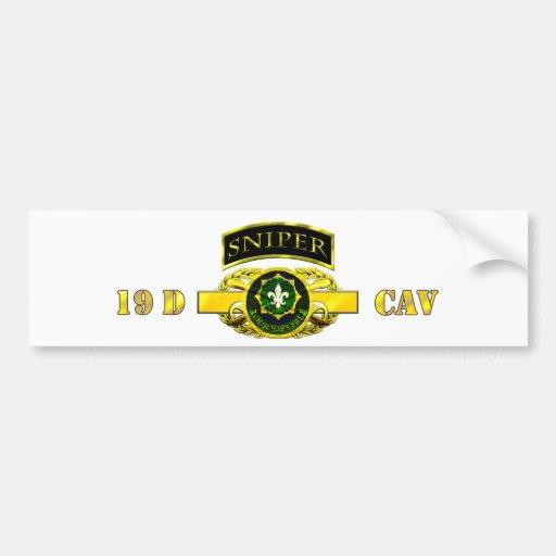 Registro de Cav del explorador de la etiqueta 19D  Pegatina Para Auto