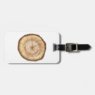 Registro de madera etiquetas maletas