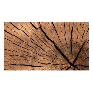 Registro de madera tarjetas de visita