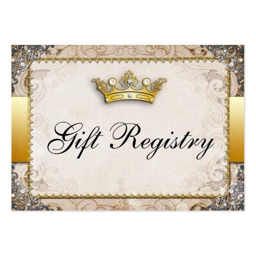 Registro de regalos adornado del boda del guión de plantilla de tarjeta personal