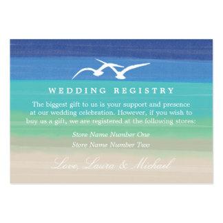Registro de regalos del romance el | de la puesta  tarjeta personal