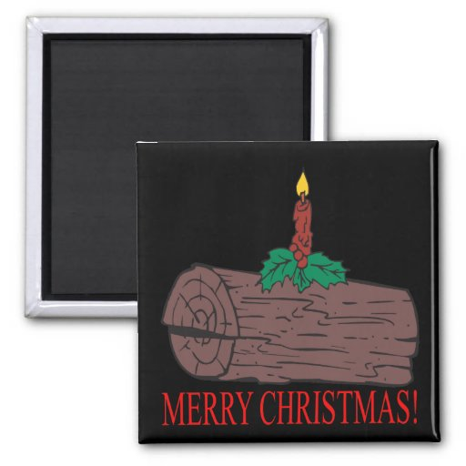 Registro de Yule de las Felices Navidad Iman Para Frigorífico