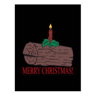 Registro de Yule de las Felices Navidad Tarjeta Postal