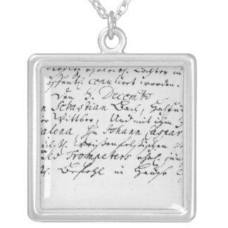 Registro del boda de Bach a Ana Grimpolas