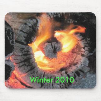 Registro del fuego que quema al revés alfombrillas de ratones