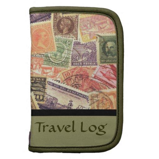 Registro del viaje de los diseños del sello o caja organizador