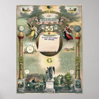 Registro masónico 1876 póster