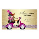 Registro púrpura del oro de la joyería de los mone tarjeta personal