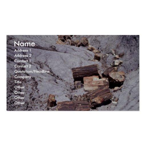 Registros quebrados, parque nacional del bosque at tarjetas de visita