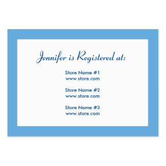 Registry Card - Blue Polka Dots Large Business Cards (Pack Of 100)
