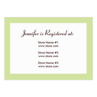 Registry Card - Green and Yellow Polka Dots Large Business Cards (Pack Of 100)