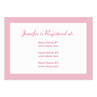 Registry Card - Pink Polka Dots Large Business Cards (Pack Of 100)