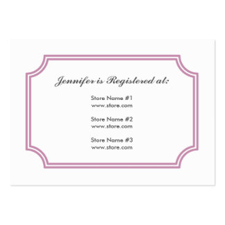 Registry Card with Lotus Square Pattern Large Business Cards (Pack Of 100)