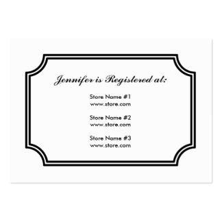 Registry Card with Lotus Square Pattern Large Business Card