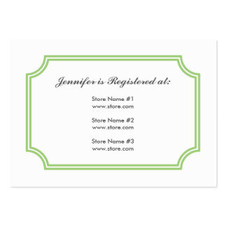 Registry Card with Medieval Cross Pattern Large Business Card