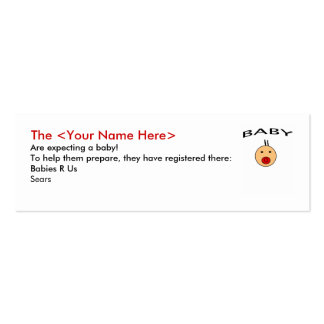 Registry Profile Card Business Cards