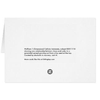 Regla 00011110 tarjeta de felicitación