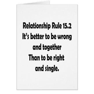 regla 15,2 de la relación mejor a ser incorrecta tarjeta de felicitación