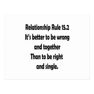regla 15,2 de la relación mejor a ser incorrecta tarjeta postal