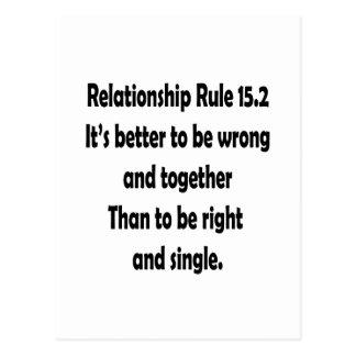 regla 15,2 de la relación mejor a ser incorrecta tarjetas postales