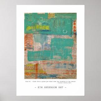 Regla # 1 arte abstracto póster