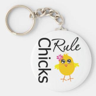 Regla 1 de los polluelos llavero redondo tipo pin