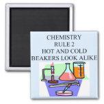 regla 2 de la química imán de frigorífico
