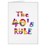 regla 40s felicitacion