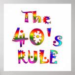regla 40s poster