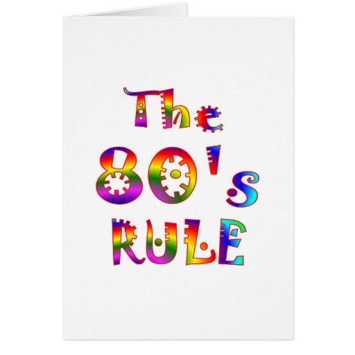 regla 80s tarjetas