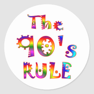 regla 90s pegatina redonda