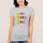 Regla alta de los chicas camiseta